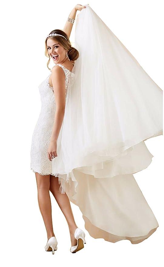 Tianshikeer Hochzeitskleid 2 Teilig Spitze Tüll Lang Sexy Brautkleid ...