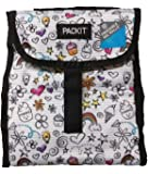 PackIt Freezable Lunch Bag (White Doodles)