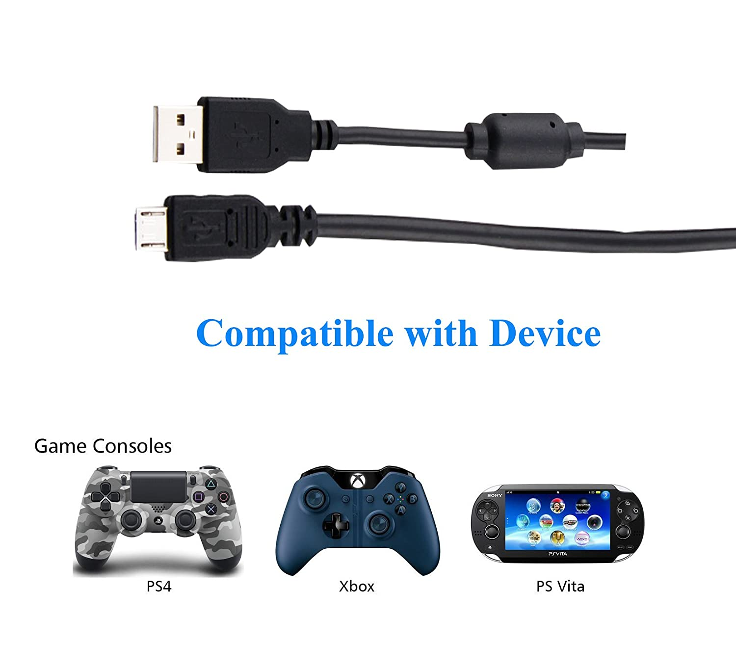 Amazon.com: Cable Micro USB, PS4 driver de Xbox One Cable de ...