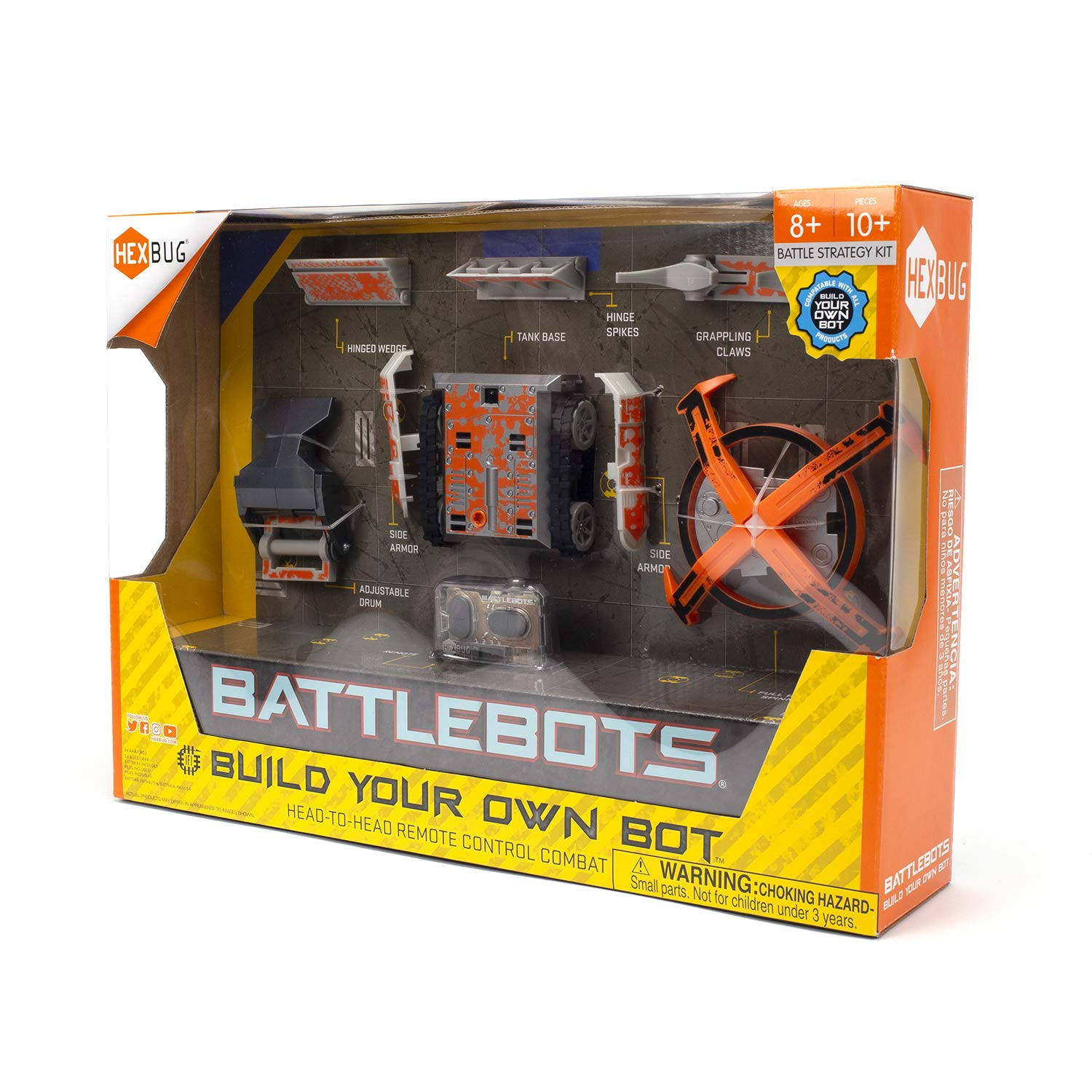 HEXBUG BattleBots Build Your Own Bot Tank Drive, Toys for Kids, Fun Battle Bot Hex Bugs by HEXBUG (Image #3)