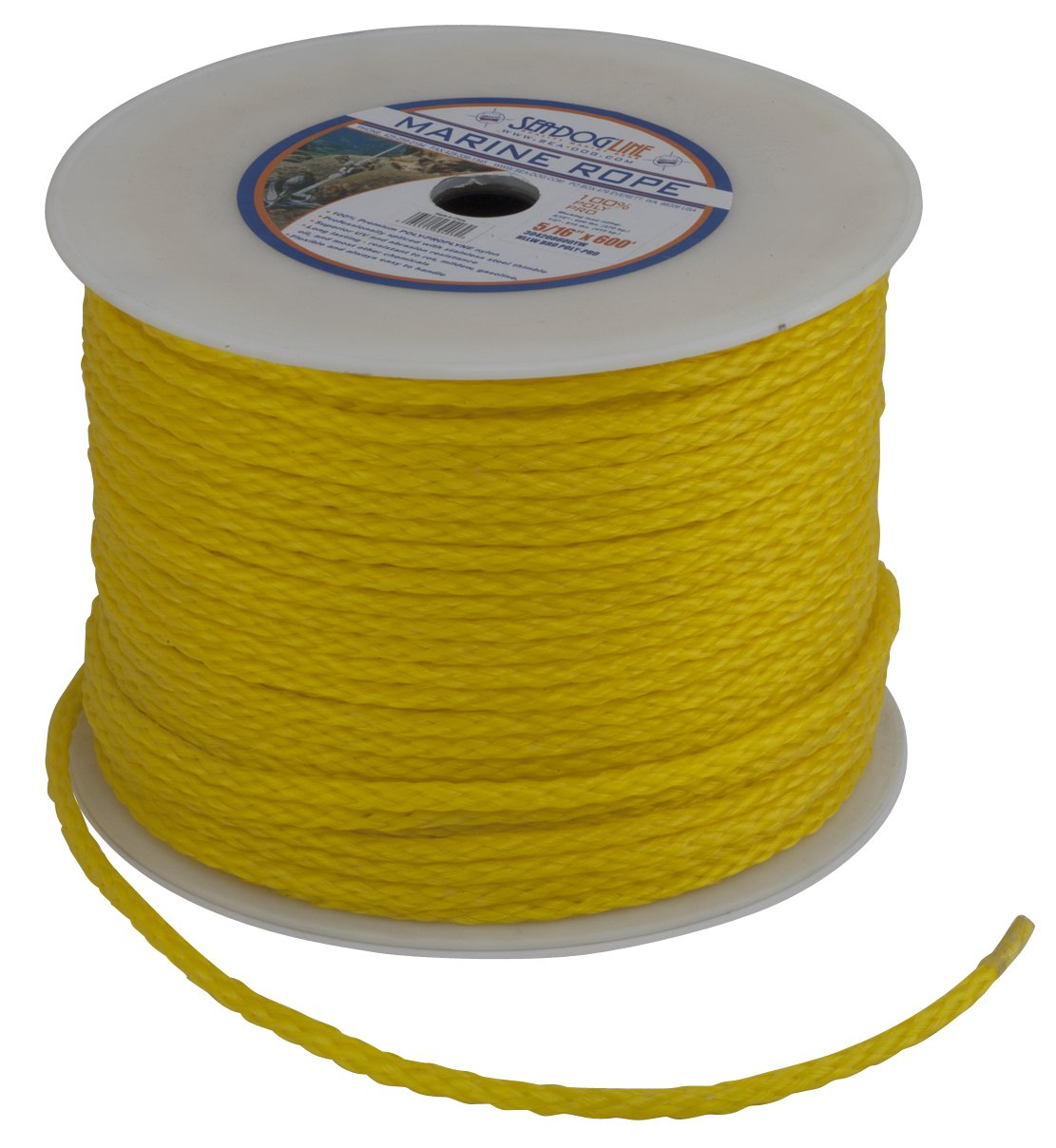 1//4 x 600 Yellow 1//4 x 600/' Sea Dog 304206600YW Hollow Braided Polypropylene Rope Spool Yellow Northern Wholesale Supply Inc Boating