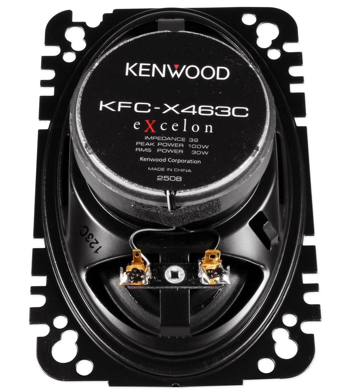 60 Watts RMS Kenwood Excelon KFC-X463C 4 x 6 2 Way Pair Of Car Audio Speakers Totalling 200 Watts Peak
