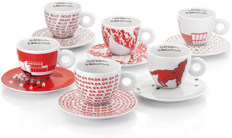 イリー アートコレクションILLY Art Collection (ROBERT WILSON) Cappuccino 6 cup set - カプチーノ6杯セット - 並行輸入品