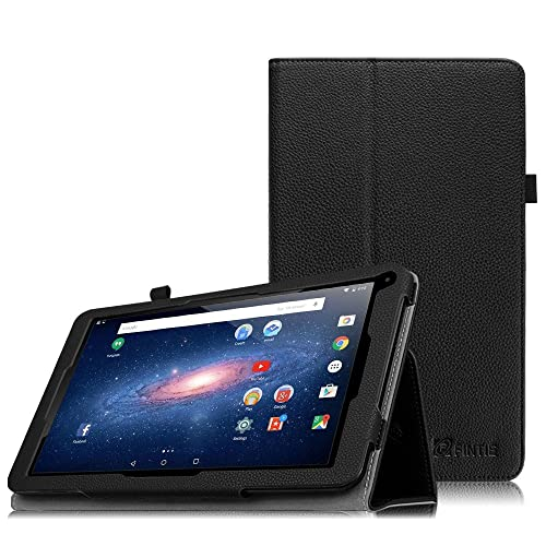 """For it British 10.1""""/it New British 10.1""""/it UK 10.1"""" Tablet PC Case - Fintie Folio Premium PU Leather Stand Case Cover with Stylus Holder for it 10 inch Tablet, Black"""