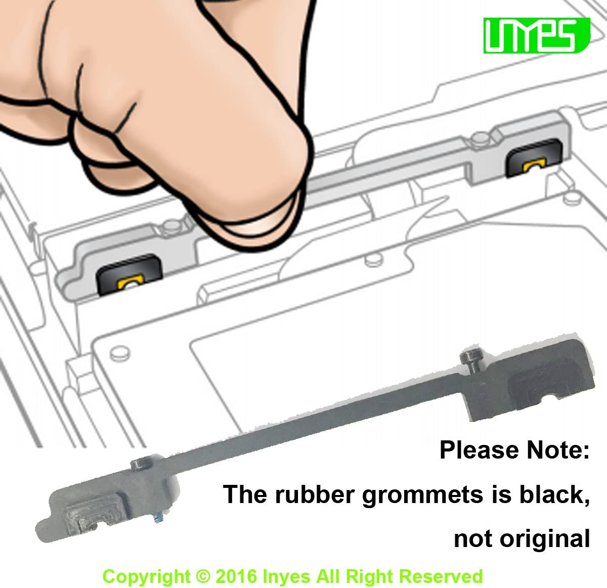 Hard/Drive/Bracket with Rubber Grommets gaskets Captive Screw for MacBook/Pro/13/A1278/15 A1286/2009/2010/2011/2012