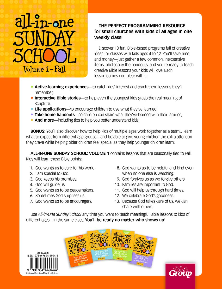 All-in-One Sunday School for Ages 4-12 (Volume 1): When you have kids of all ages in one classroom by Group Publishing (Image #2)