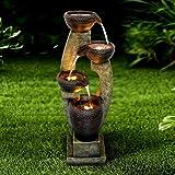 """Chillscreamni 40"""" H Modern Outdoor Fountain - 4 Crocks Outdoor Garden Fountain with Contemporary Design for Garden…"""
