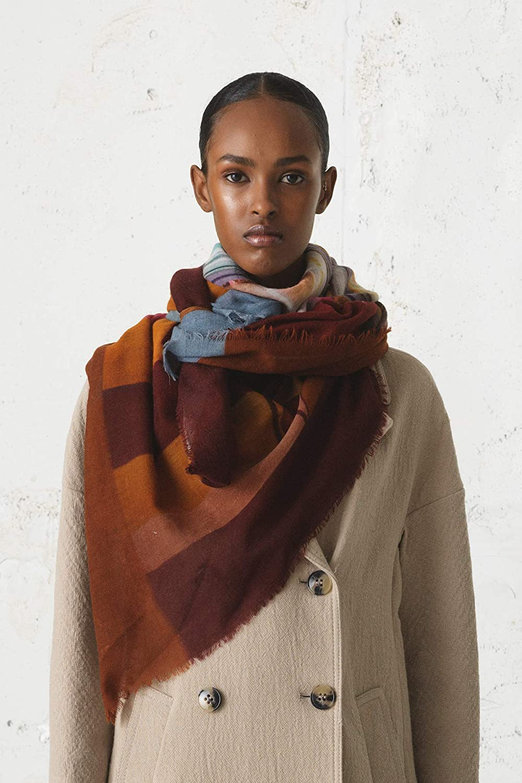 1907664001-018 Becks/öndergaard Tuch Damen Winter Ellimo Multi Color Warmes Halstuch Foto Print New York Icecream Wolle 130 x 130 cm