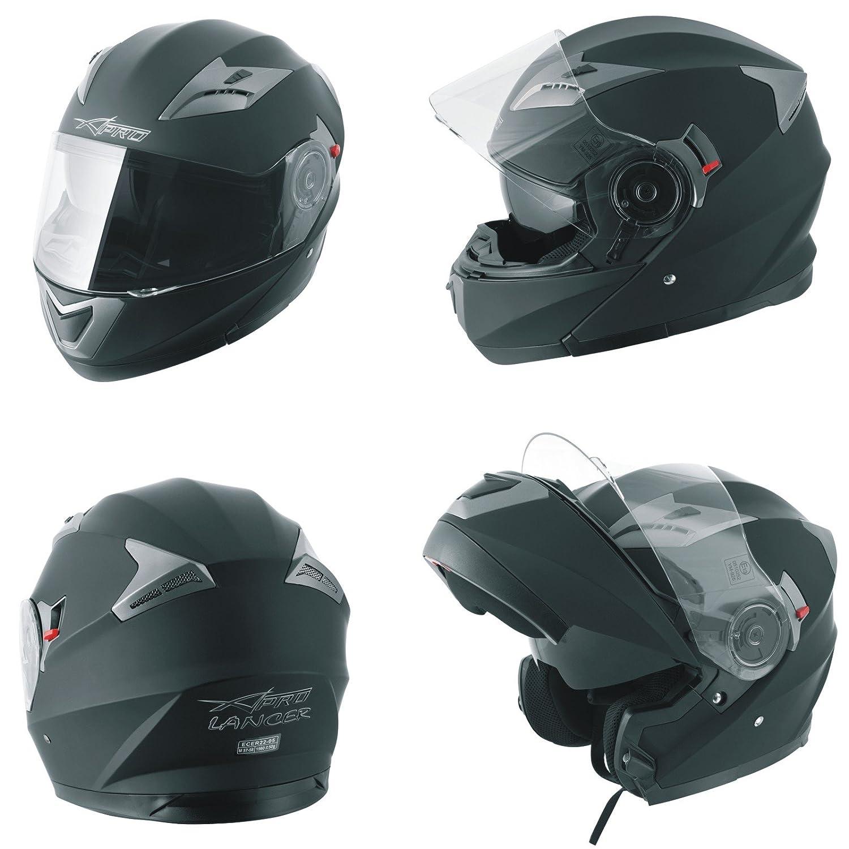 A-Pro Helm Klapphelm Innensonnenblende Motorradhelm Modular Schwarz M 5180000086305