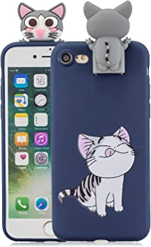 Tifightgo Cover iphone 7/8 Custodia iphone 7/8 Silicone Gatto ...