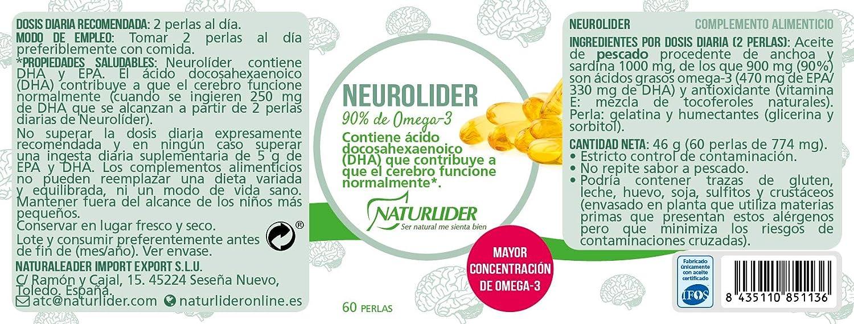 Naturlíder Neurolider Suplementos para Sistema Nervioso Central y Memoria - 60 Cápsulas: Amazon.es: Salud y cuidado personal