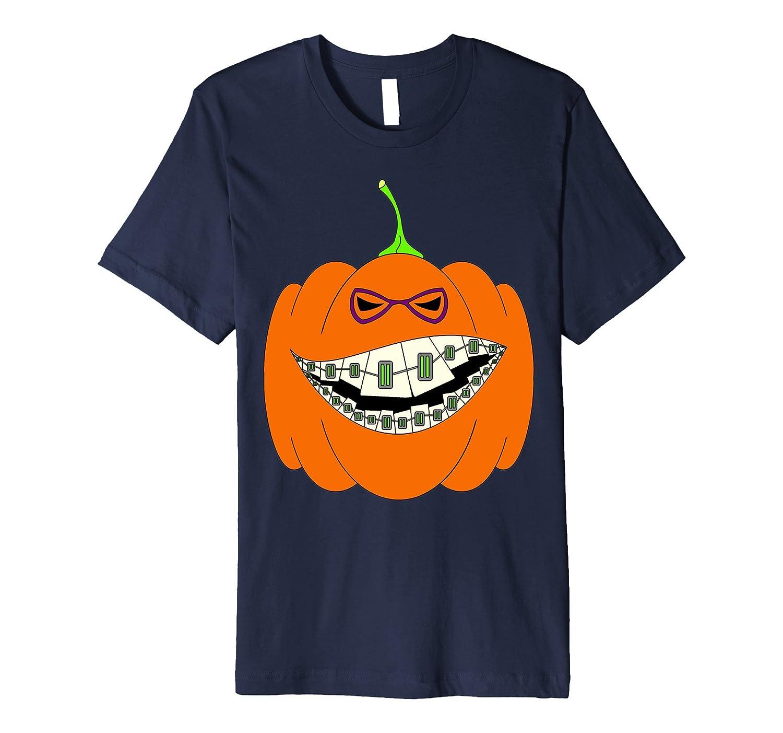 Happy Halloween Pumpkin with Braces Orthodontics Horror Geek-T-Shirt