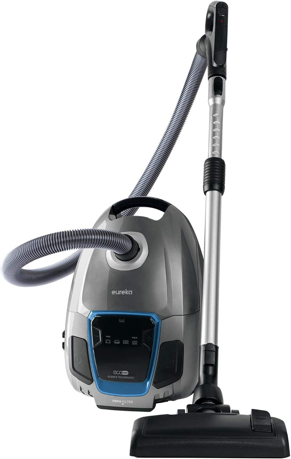 Eureka S600 SilentClean Cylinder Cleaner, Corded Powerful Compact Washable Hepa Filter Vacuum, 700W LED Display, 3.5L