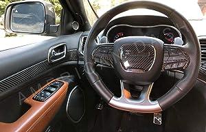 2017 2018 2019 Jeep Grand Cherokee Laredo Limited SRT8 Interior Real Carbon Fiber Dash Trim KIT Set
