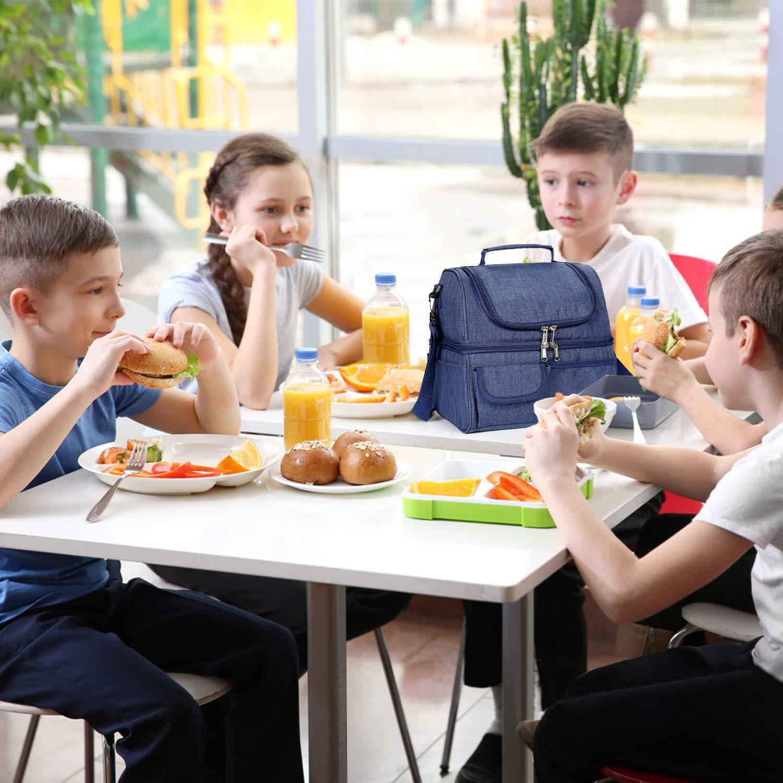 Kasimir 30L Picknicktaschen Doppelschicht K/ühltasche K/ühlkorb Picknicktasche Faltbare Isoliertasche Lunchtasche Mittagessen Tasche Thermotasche Isoliertasche f/ür Lebensmitteltransport