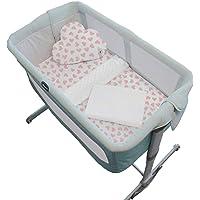Nap Baby Juego de Blancos para Colecho 50 x 90-4 Piezas (2 Sábanas de Cajón 100% Algodón, Cobijita Súper Suave y Cojín…
