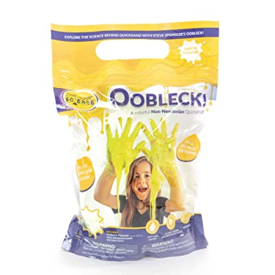 Steve Spangler Science Oobleck Mix, 16 oz Powder Packets, Yellow Slime – Science Kits for Kids, Safe, Non-Toxic, Environmentally Friendly, Encourages Creative STEM Learning for Classrooms or Home: Industrial & Scientific