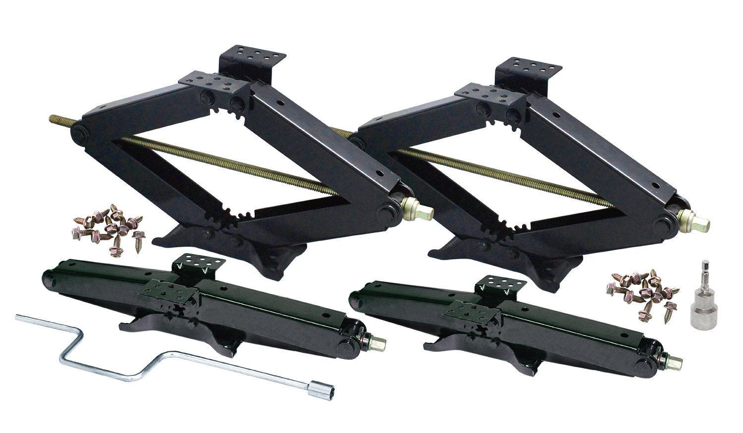 4PK COMBO - 3 3/4 TON RV JACK COMBO W/HANDLE & Socket - 24' LIFT - 7500 LBS Prograde