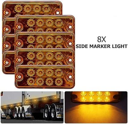 remorque autobus caravane Maso Lot de 4 feux de position universels 12 V//24 V avec ampoules orange ambre pour camion