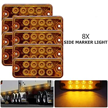 2LED Front Side Marker White Light Car Truck Van Trailer Lorry Lamp UK Stock8PCS