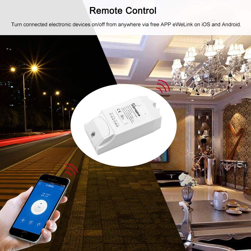 2PCS Sonoff Pow R2 ITEAD Smart WiFi Switch Inal/ámbrico Controlador ON//Off con Tiempo Real Medici/ón del Consumo de energ/ía 15A 3500W Smart Home Device Support para Alexa Voice Control y App