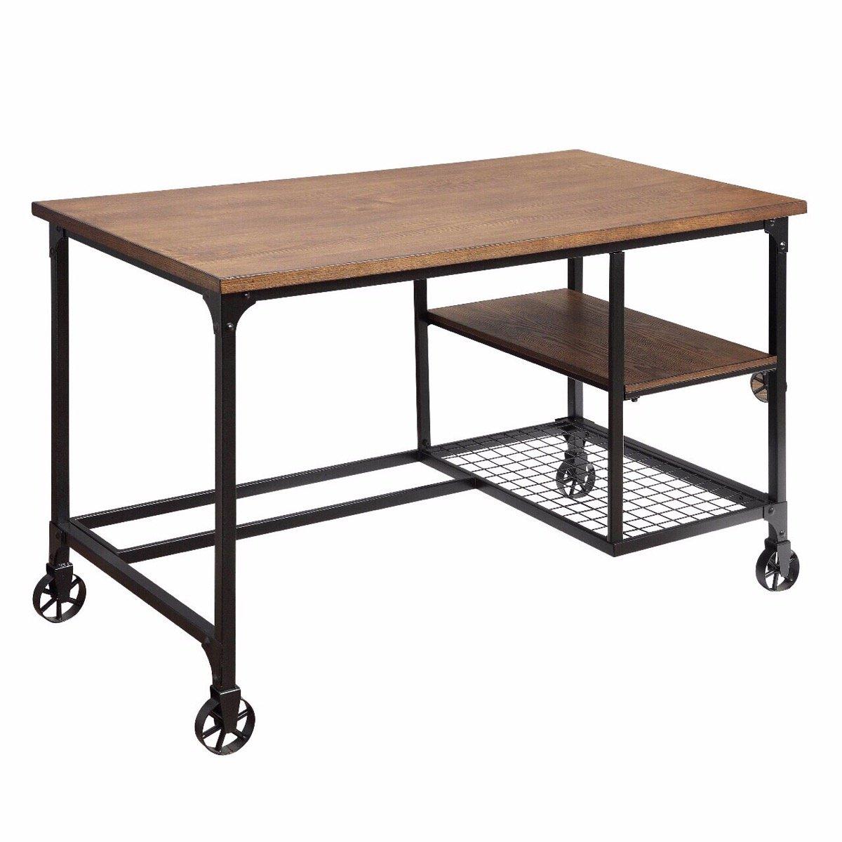 Furniture of America CM-DK6276 Cori Antique Black Desk Writing