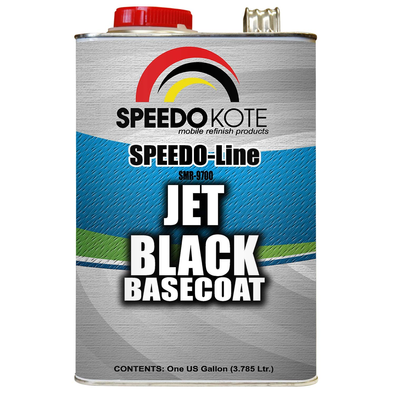 Speedokote Jet Black Automotive Basecoat, One Gallon SMR-9700 by Speedokote (Image #1)