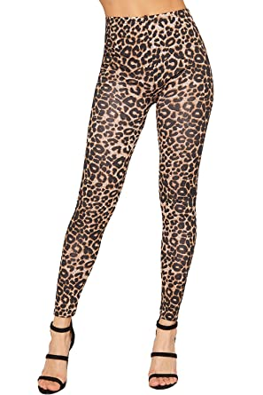 be4c8b6399b38 Amazon.com: WearAll Women's Leopard Print Leggings: Clothing