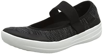 21dd3a3cc2a26f FitFlop Women s Uberknit Mary Jane Black Soft Grey 10 ...