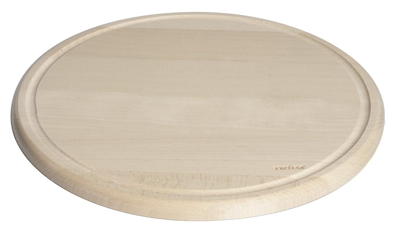 Excelsa Real Wood Piatto con Canale, Legno, Naturale, 30 x 30 x 2 cm Bergamaschi & Vimercati 49076 49076_Legnonaturale