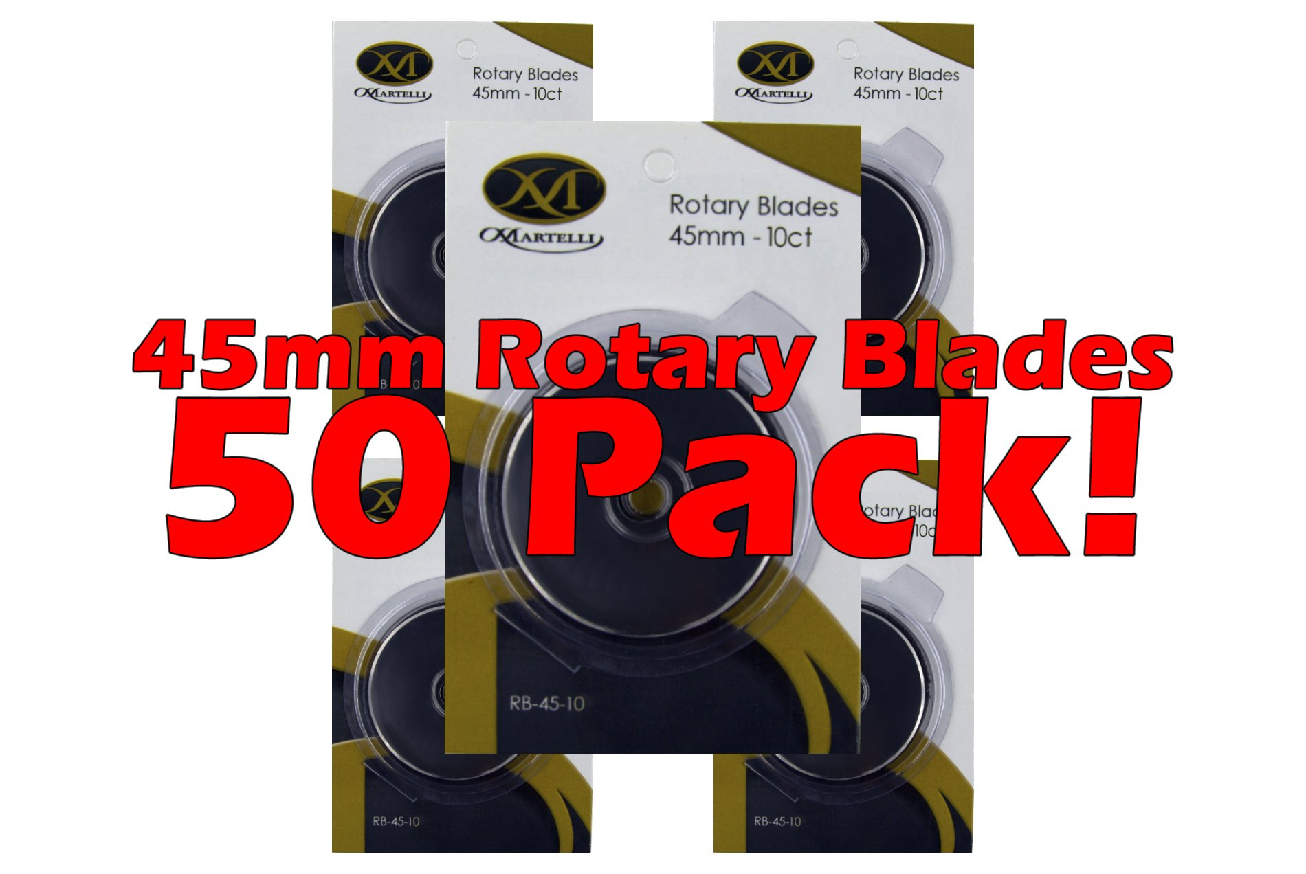 Martelli Ergo Rotary Cutter Replacement Blades 50 pack 45mm