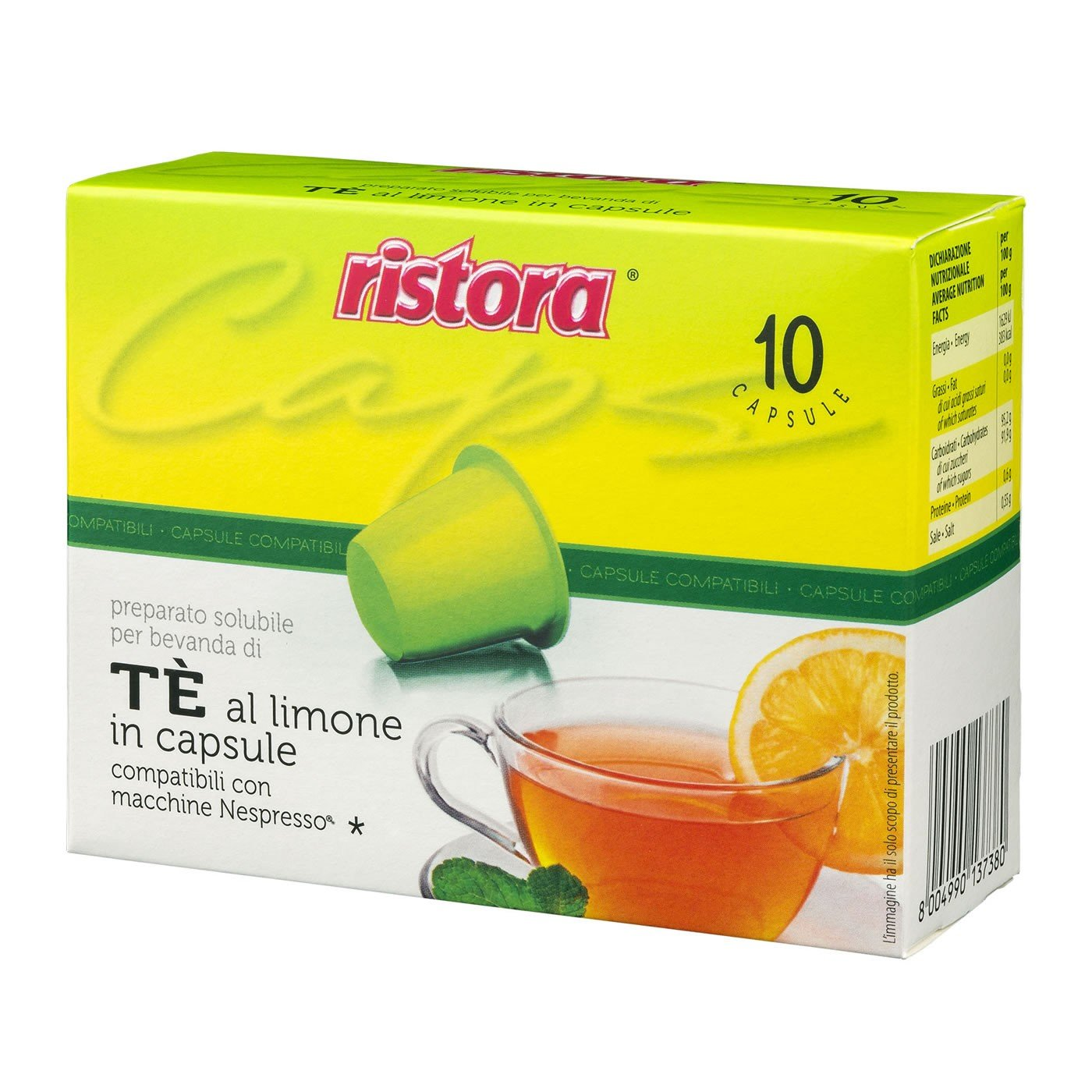 60 cápsulas solubles compatibles con Nespresso Ristora: Amazon.es ...