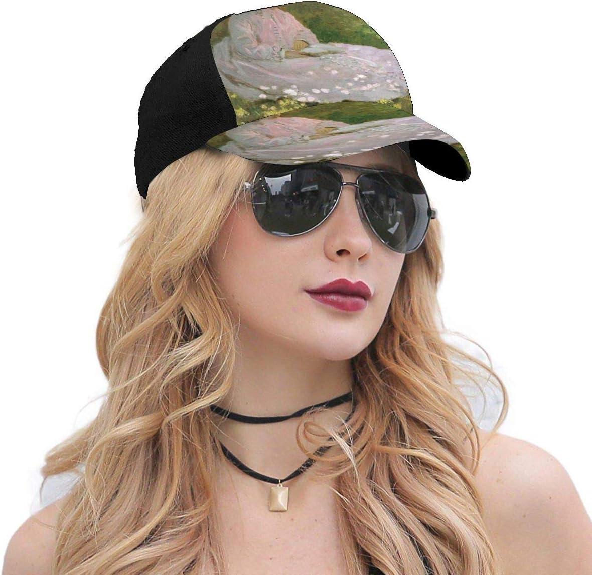 Springtime Monet Summer Baseball Caps for Men and Women with Adjustable Snapback Strap