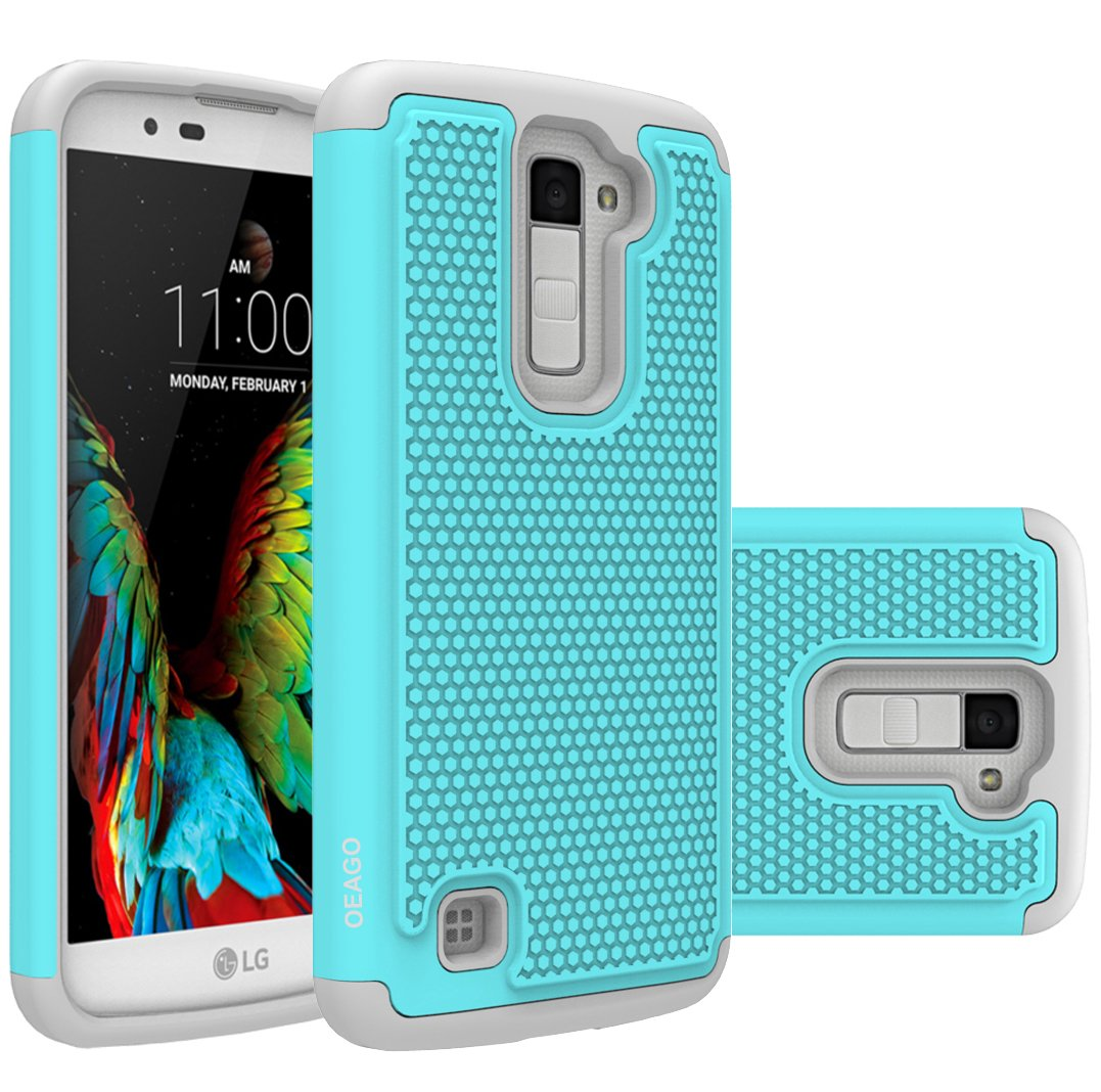 Lg K10 Case Premier Cover Accessories Oeago Q10 Hard Casing Shockproof Impact Protection Hybrid Dual Layer Defender Protective For