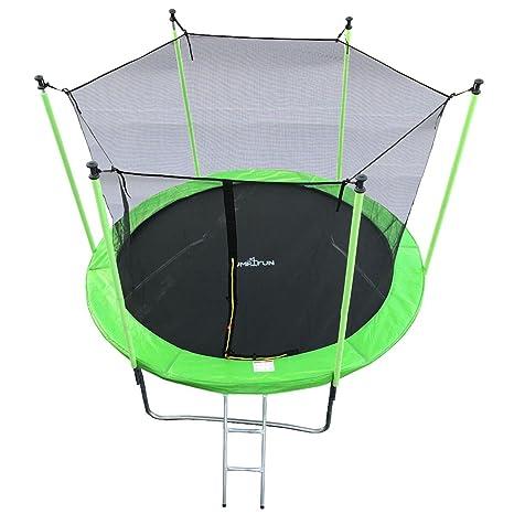 JUMP4FUN trampolín Verde Manzana Talla 244 cm: Amazon.es: Deportes ...