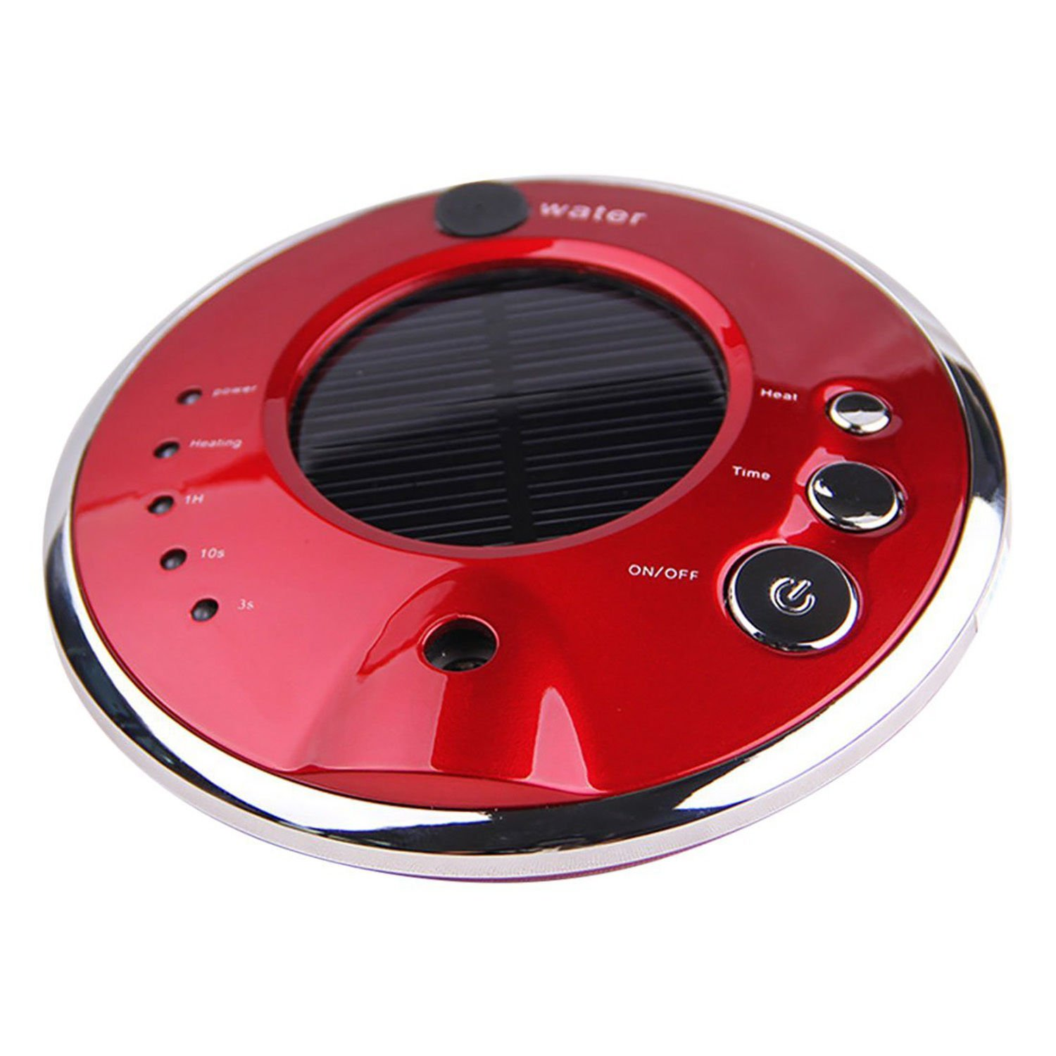 KinStore Ultrasonic Anion Mini Portable Solar Car Air Purifier and Air Cleaner for Home Office Car and Travel (Red)