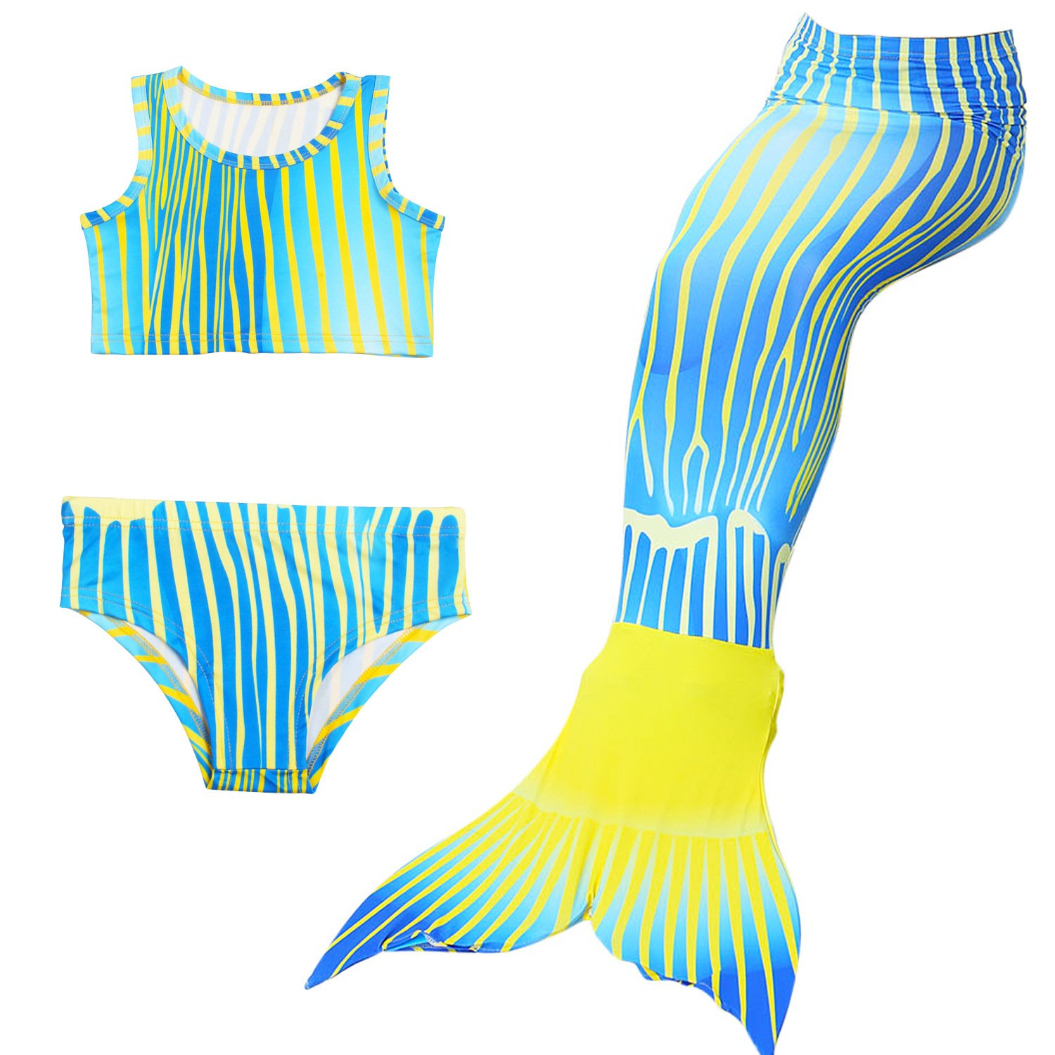 Stven Hetick Girls theme party beach holiday theme party wimwear cover up sets 3PC
