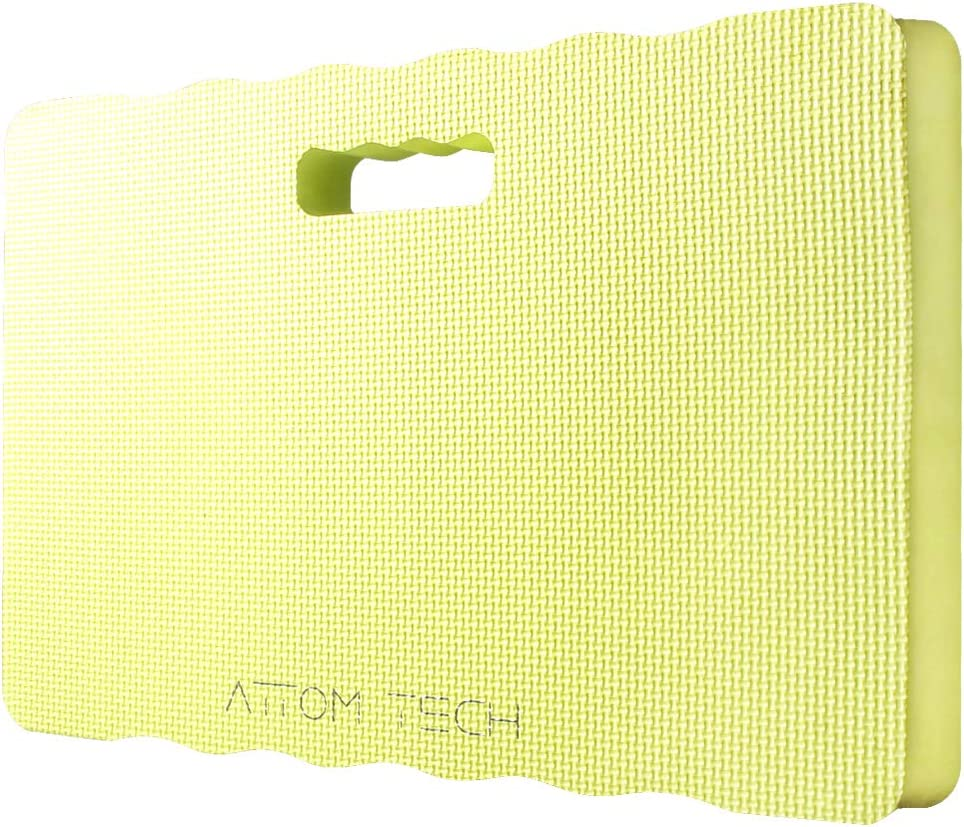 Attom Tech Home 1.6 inch Thick Kneeling Pad High Density Foam, Waterproof Soft But Durable Extra Large Garden Kneeler for Gardening, Non-Slippery Bath Kneeler for Baby Bath (12 x 18 x 1.6 inch)
