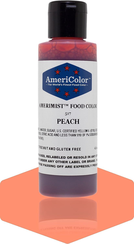 Badger Air-Brush Company AC-517 Americolor Amerimist 4-1/2-Ounce Edible Airbrush Ready Food Color, Peach