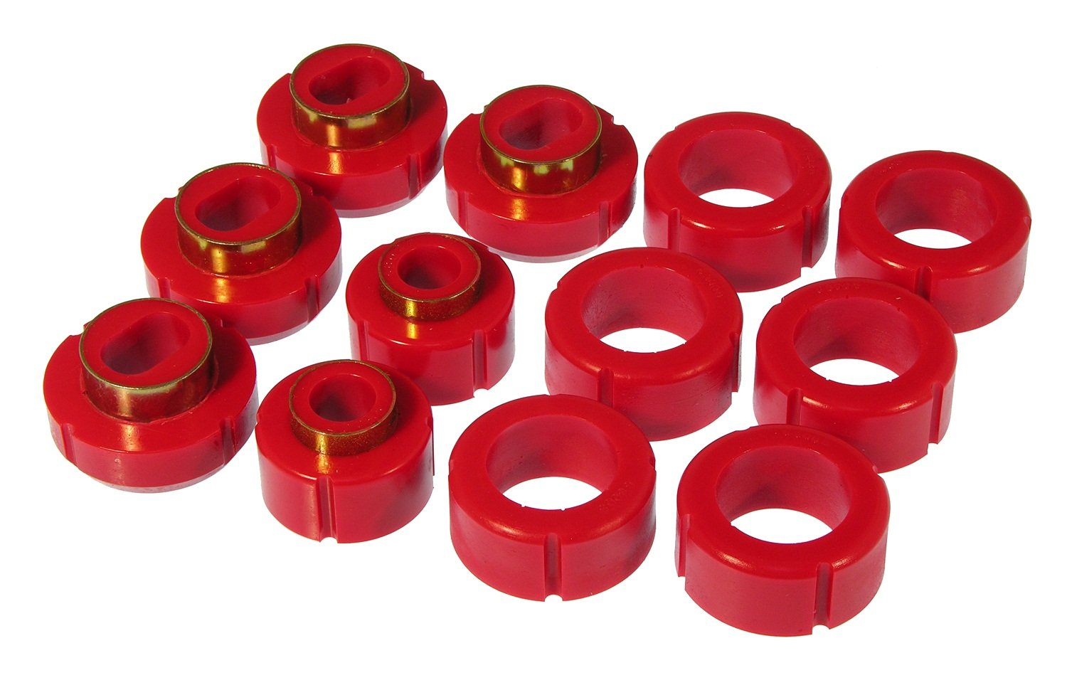 Prothane 7-115 Red Body and Standard Cab Pickup Mount Bushing Kit - 12 Piece by Prothane
