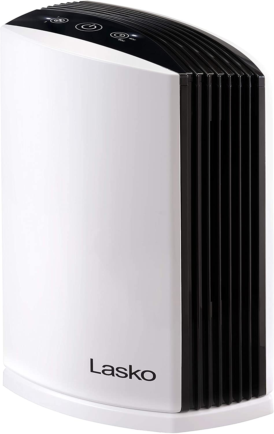 Lasko LP200 HEPA Desktop Air Purifier with Timer for a Cleaner, Fresher Home Environment – 2-Stage Filtration Removes Smoke, Odors, Pet Dander, Virus Sized Particles, Pollen, Dust and Mold Spores