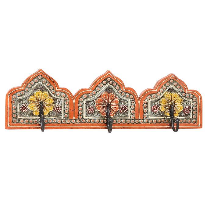 Taj Mahal C MA15-33-C - Perchero Oriental con 3 Ganchos ...