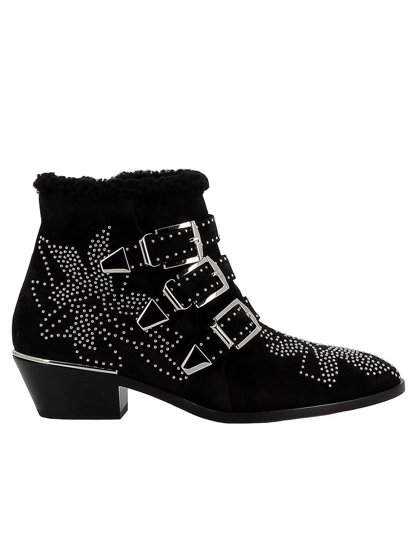 - CHLOÉ Women's CHC18W13438001 Black Suede Ankle Boots