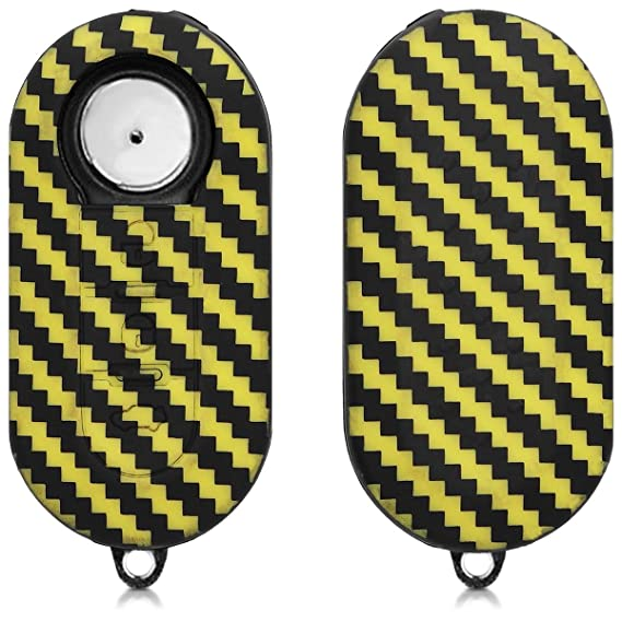 kwmobile Car Key Cover for Fiat Lancia Silicone Protective Key Fob Cover for Fiat Lancia 3 Button Car Flip Key White/Black