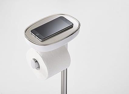 Joseph Joseph Baño EasyStore Plus Portarrollos de papel higiénico de pie con escobilla para inodoro Flex Steel: Amazon.es: Hogar