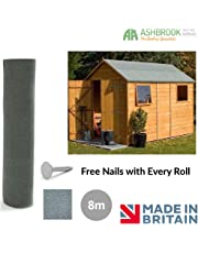 Shed Roofing Felt | Green Mineral | 8m x 1m | Free Nails