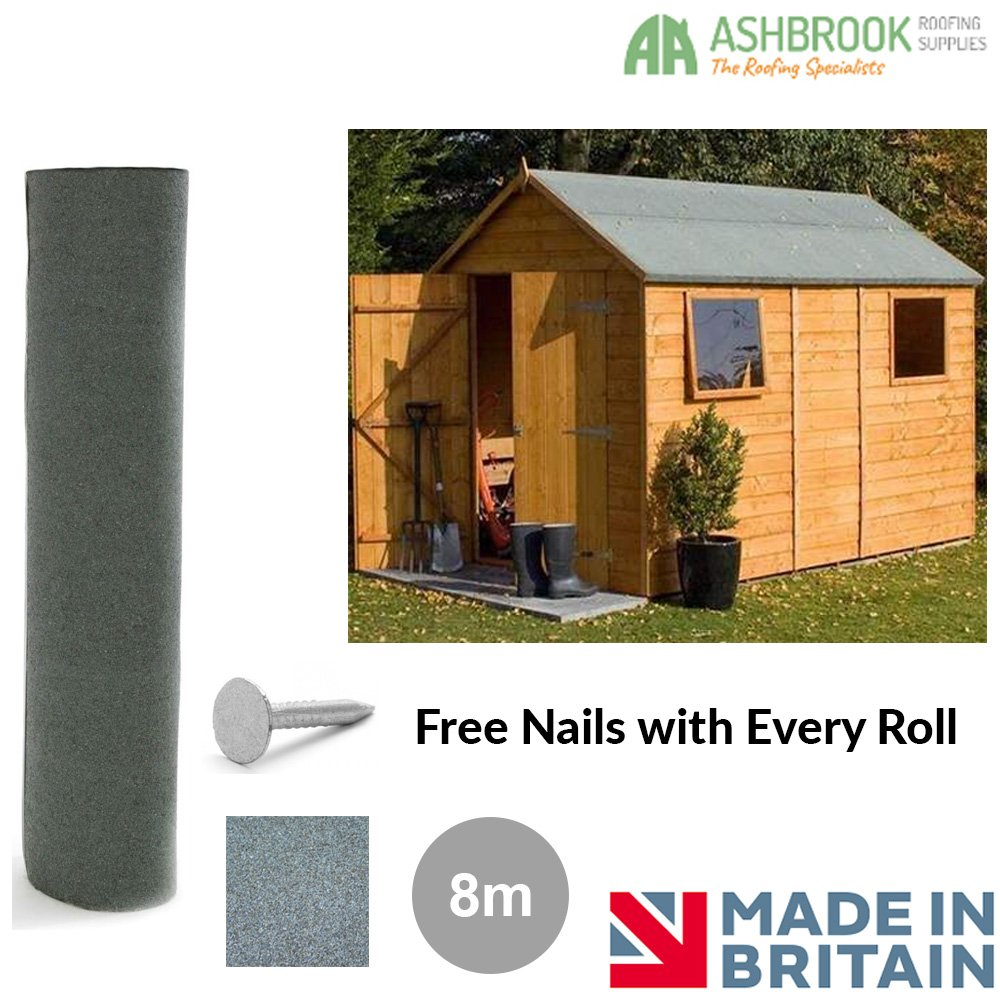 Shed Roofing Felt | Green Mineral 5m Ashbrook Roofing