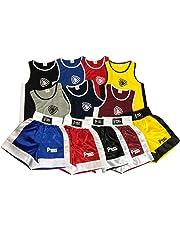 NUEVO infantil Boxeo Uniforme 2 pices set (Top & Corto) 03 hasta 14 Años