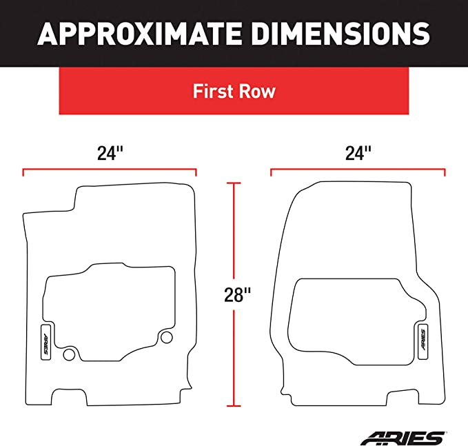 2nd Row Only Select Toyota Tundra Crew Cab ARIES TY14721809 StyleGuard XD Black Custom Floor Liners