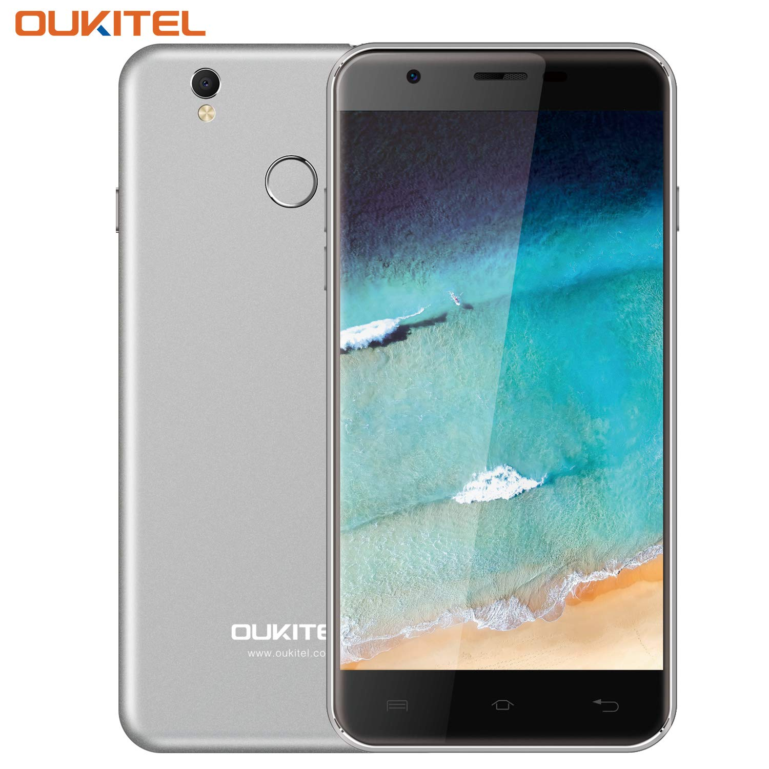 Unlocked Cell Phones, Oukitel U7 Plus Unlocked Smartphone 5.5 Inch Dual SIM Android 6.0 Quad Core 2GB RAM 16GB ROM Mobile Phone 2500mAh-Grey